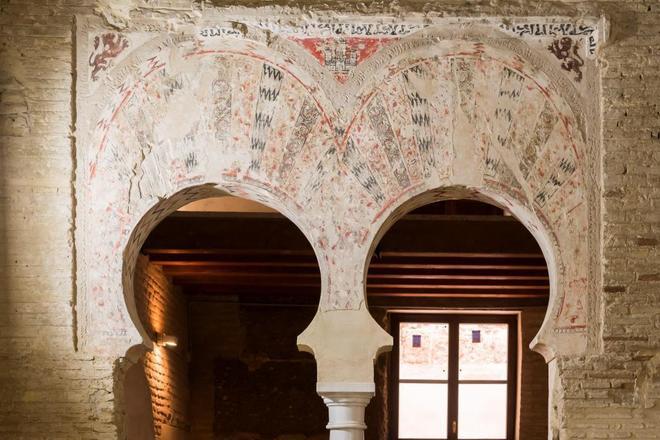 Palácio de Al-Mu'Tamid no Alcazar de Sevilha, foto de Raúl Caro / EFE, retirada do jornal El Mundo, em https://www.elmundo.es/andalucia/2018/07/15/5b4b88fa468aeb3c018b460a.html